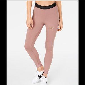 NWT Nike Sportswear rose Metallic-Logo leggings